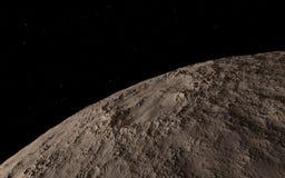 Moon scientific illustration Royalty Free Stock Photos