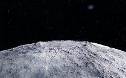 Moon scientific illustration Royalty Free Stock Photo