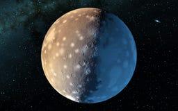 Moon scientific illustration Stock Photography