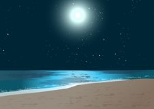 Moon and Sea royalty free stock photos