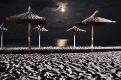 Moon on sea night Stock Image