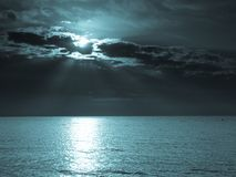 Moon  on sea Royalty Free Stock Photo