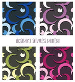 Moon seamless pattern. Abstract moon dark seamless pattern vector background design Royalty Free Stock Image