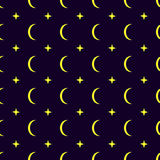 Moon seamless pattern background Royalty Free Stock Photos