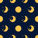 Moon seamless pattern Royalty Free Stock Photos