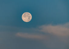 Moon set early in the morning Stock Image