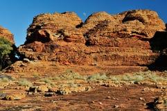 Moon set at Kings Canyon,  Northern Territory, Australia Royalty Free Stock Images
