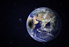 Moon shadow on Earth surface. Stock Photos