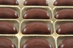 Moon shape chocolate Stock Images