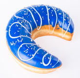 Moon shape donut on background Royalty Free Stock Images