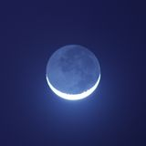 Moon shining. Blue moon shining in the night Stock Images