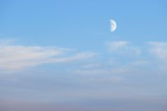 The moon in the sky Royalty Free Stock Photography