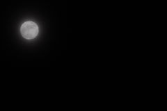 Moon Sky. Genuine dark night sky with vivid moon.  Simple but is a versatile background having no horizon or stars.  Leaves designer free to fill the sky as he Stock Image