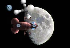 Moon, Sky, Atmosphere, Satellite stock image