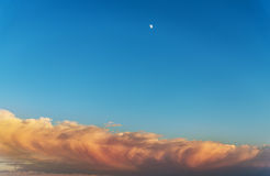 Moon in the sky. Royalty Free Stock Photography