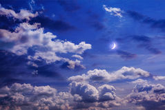 Moon on the sky Stock Photography
