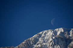 Moon sky and mountain Royalty Free Stock Photos