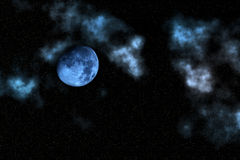 Moon   sky  night Stock Photo