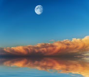 Moon in the sky. Royalty Free Stock Image
