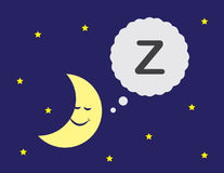 Moon Sleeping Stock Photo