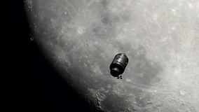 moon som trip Royaltyfri Fotografi