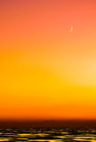 Moon Sonnenuntergang Stockbilder