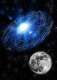 Moon in space Royalty Free Stock Photography
