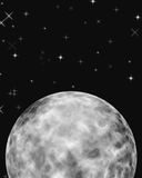 Moon Space. Fantasy view of a moon in space stock illustration