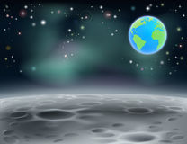 Moon space earth background 2013 C5 Stock Photo