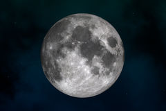 Moon. Space landscape: mysterious moon (image created in Photoshop and Cinema 4d Royalty Free Stock Image