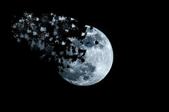 Moon space Royalty Free Stock Images