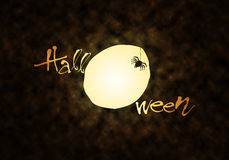 Moon & Spider Halloween theme Royalty Free Stock Photo