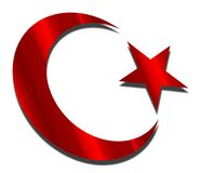 Moon and star. Turkey turkish flag moon and star Royalty Free Stock Images