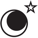 Moon and Star. A star and moon drawing - rasterized  drawing made in adobe illustrator Stock Photography