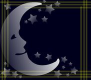 clorful background with Moon and stars Royalty Free Stock Images