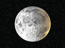 Moon on Star background Royalty Free Stock Photo
