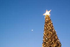 Moon and star on Christmas Eve Stock Images