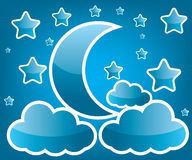 Moon and star illustration. Moon and star background illustration Royalty Free Stock Photography