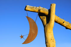 Moon and star ornament Stock Photography