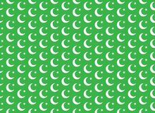 Moon and Star Seamless Pattern. Moon and Star Green Seamless Pattern. Vector and Illustration Stock Photo