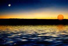 Moon Star Sun Stock Photos