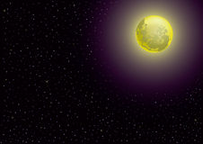 Moon and starry night Royalty Free Stock Photo