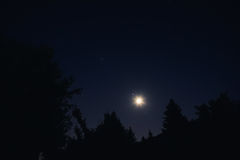 Moon and Starry Night Stock Image