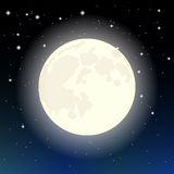 The moon in the starry sky Stock Photography