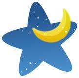 Moon and stars Royalty Free Stock Photo