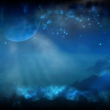 Moon and Stars Royalty Free Stock Images