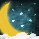 Moon and stars Royalty Free Stock Image