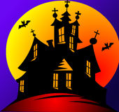 Moon and stars on holiday halloween Royalty Free Stock Images