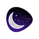 Moon with stars icon Royalty Free Stock Photos