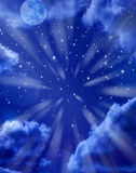 Moon Stars Sky Background Royalty Free Stock Photo